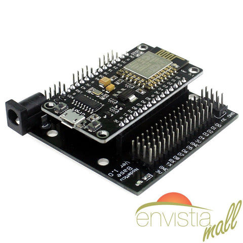 NodeMcu LUA ESP8266 ESP-12E CH340G WiFi Development Board V3 + Expansion Breadboard Base - Envistia Mall