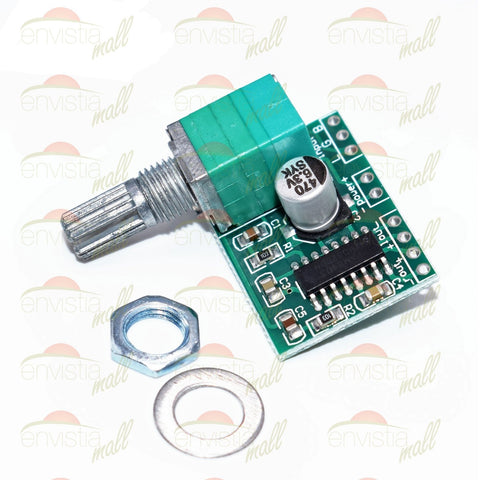 PAM8403 Mini 2 Channel 3W Stereo Audio Power Amplifier Board with Volume Control & Switch - Envistia Mall