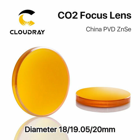 PVD ZnSe CO2 Laser Focus Lens 20mm Diameter FL 50.8mm to 101.6mm - Envistia Mall