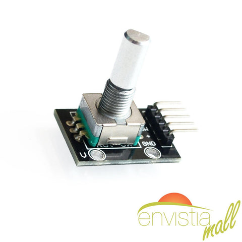Rotary Encoder / Rotation Sensor Module with Pushbutton Switch for Arduino AVR PIC DIY KY-040 - Envistia Mall