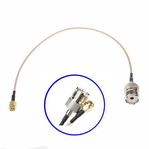 SO239 UHF Female PL259 to SMA Male Plug RG316 Cable Jumper Pigtail 12 Inch - Envistia Mall