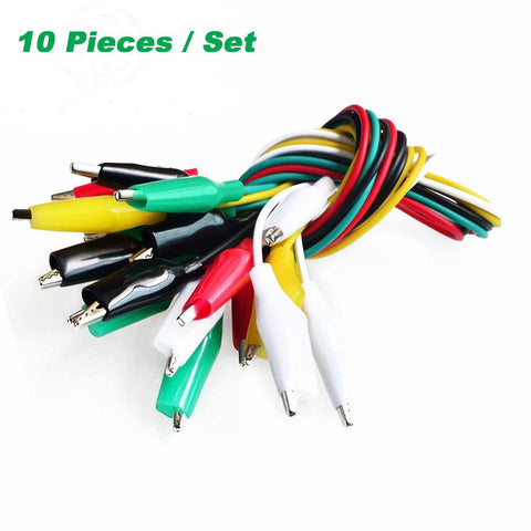 Test Lead Set with Alligator Clips 10 Pieces and 5 Colors 20.5 inches / 52cm - Envistia Mall