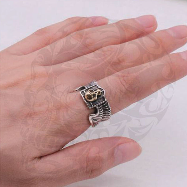 Skull & Wings Ring