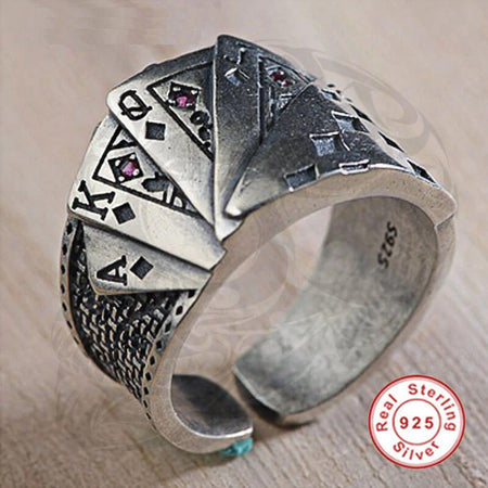 Playing Cards Open Ring