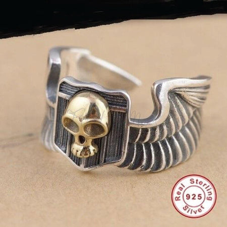 Wings Skull Ring Men,fahamk.com.