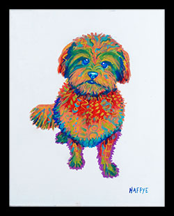 Color Pup - Framed Print