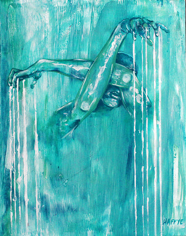 Dripping Blue - Canvas Print