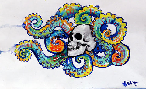 Octopus Skull - Canvas