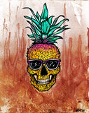 Pineapple Skull - Canvas Print