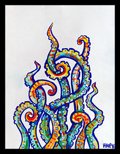 Tentacles - Framed Print