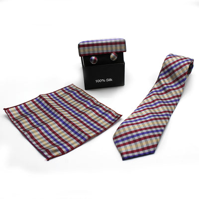 SILK POLYESTER SLIM NECKTIE BOX SET (10)
