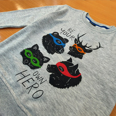 KIDS PRINTED DEER SWEAT SHIRT