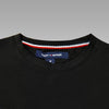 TOMMY HILFIGER BLACK EMBROIDED T-SHIRT
