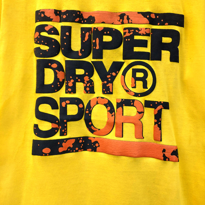SUPER DRY Training Graphic YELLOW T-Shirt