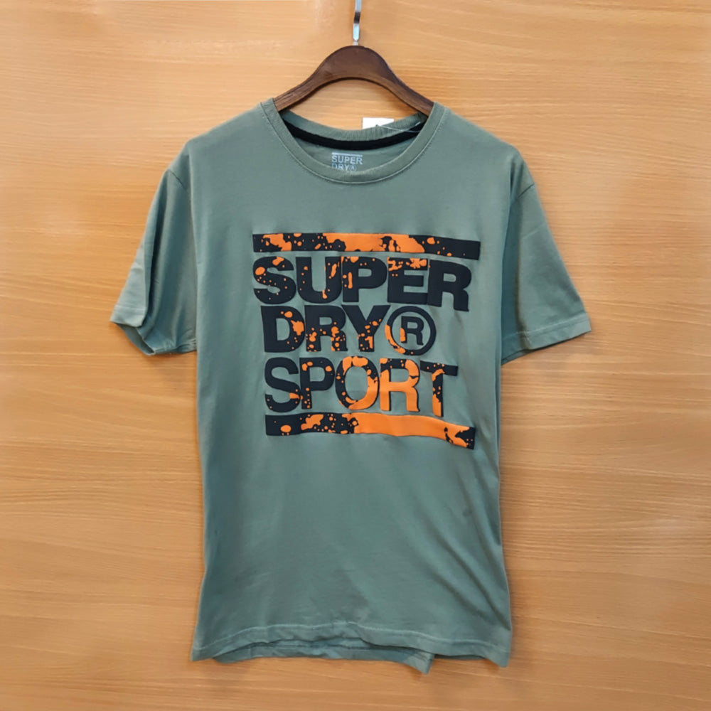 SUPER DRY Training Graphic OLIVE  T-Shirt