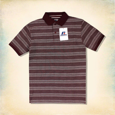 RUSSELL ATHLETIC-EXCLUSIVE BROWN REGULAR FIT POLO