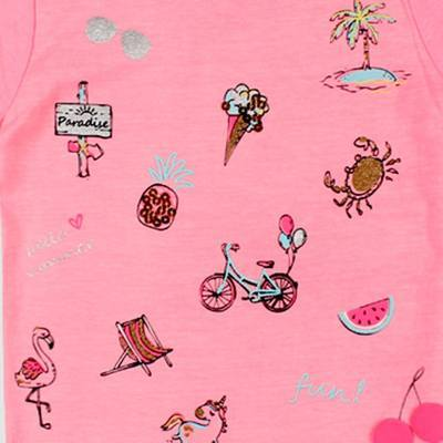 PEPCO-baby pink fun embroidered t-shirt
