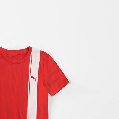 boys RED classic archive logo t-shirt (4131951575100)