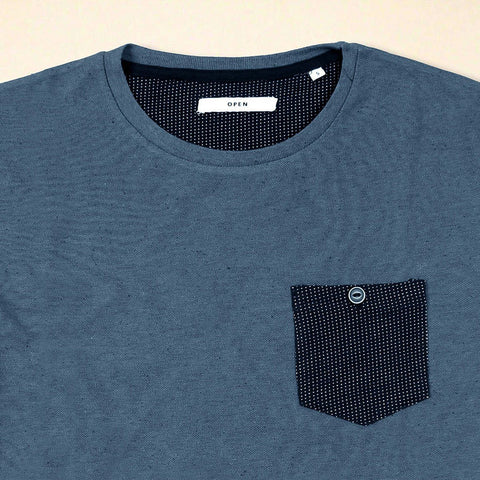 OPEN- Navy Slim Fit Comfort Tee