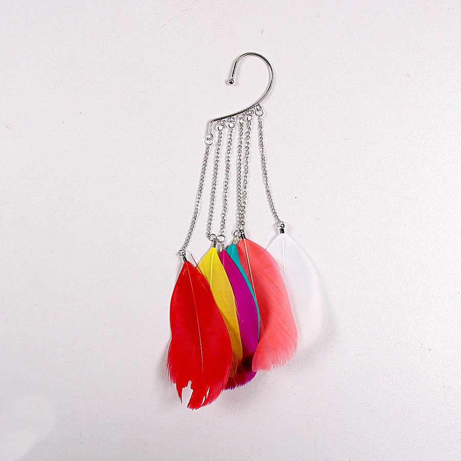 feather earring with holder