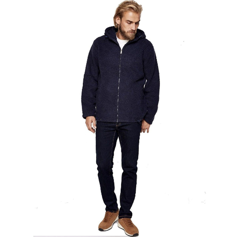 SPRINGFIELD-MEN- NAVY' SHEEPSKIN LONG HOODIES