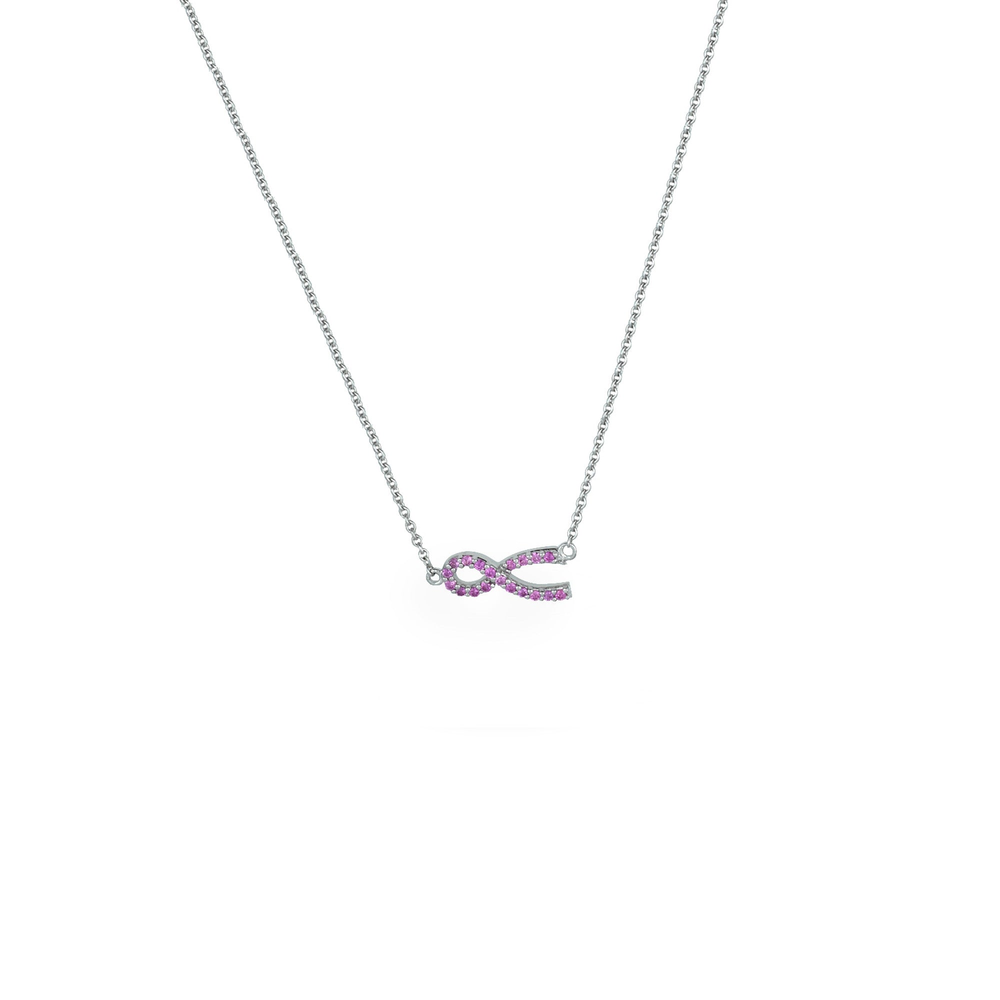 p pink light promise pendant classic and gold white sapphire chain rose product necklace diamond