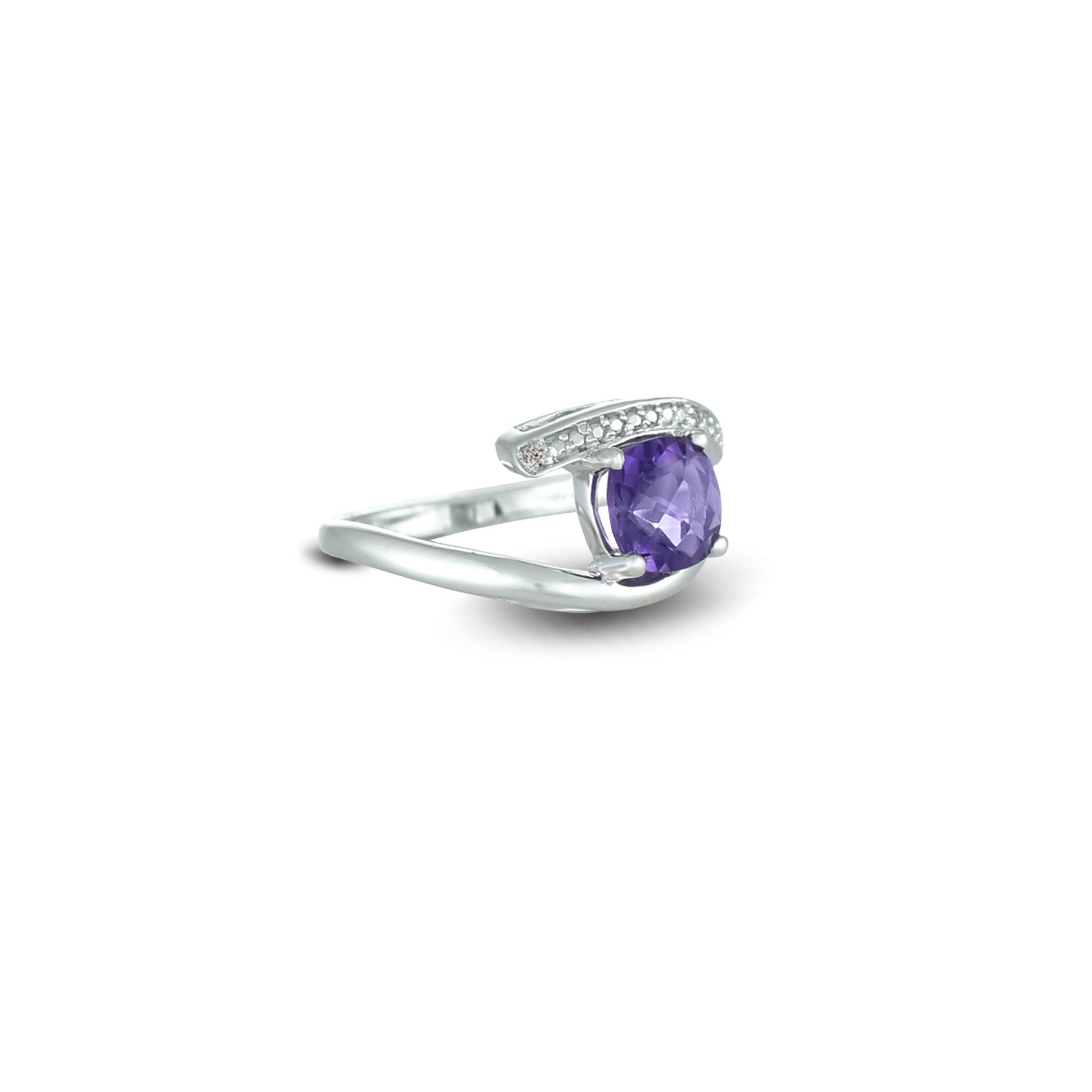 rings amethist engagement gold amethyst ring size full rose
