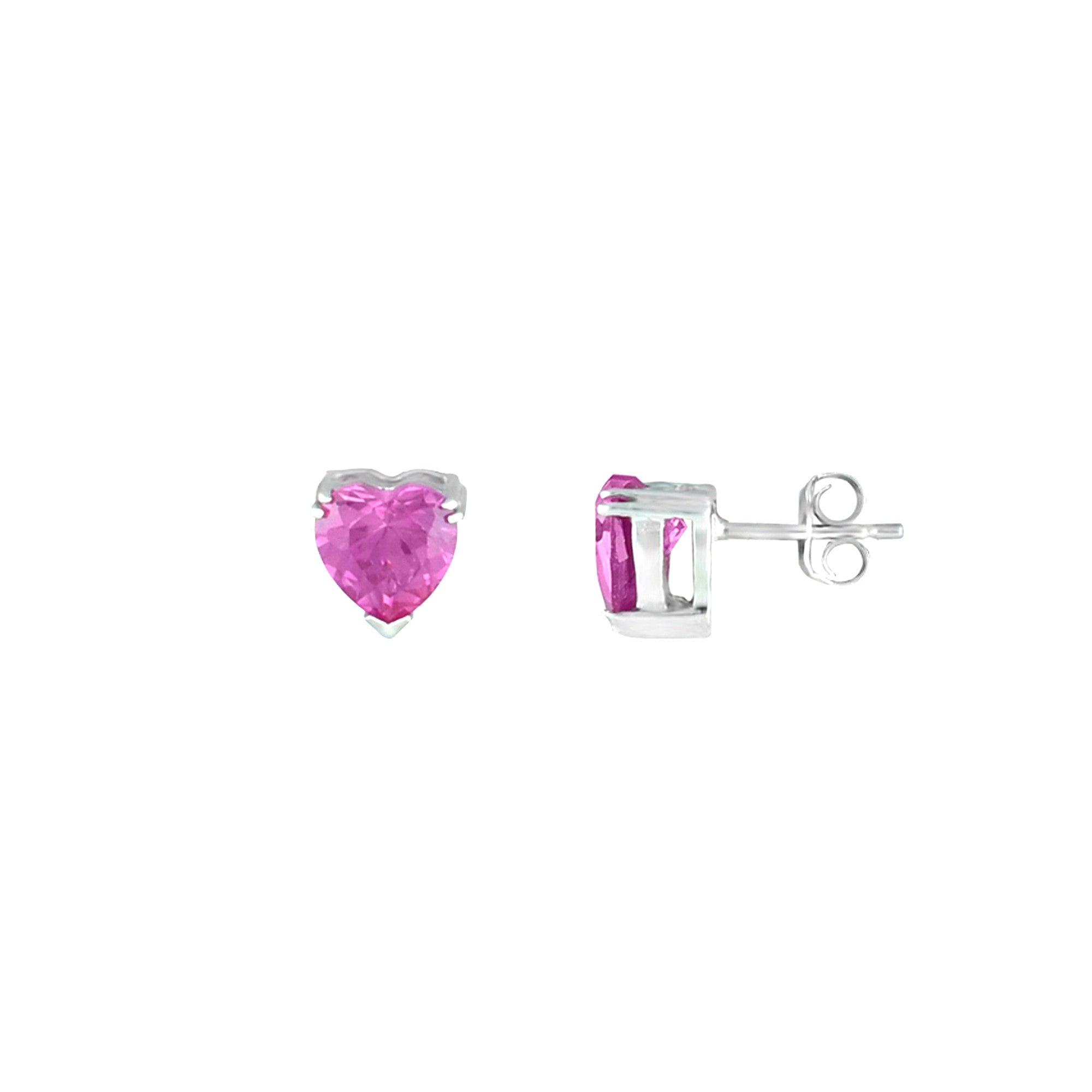 women sapphire pink yg jewelry with earring gold small nl stud for earrings yellow in stone diamond