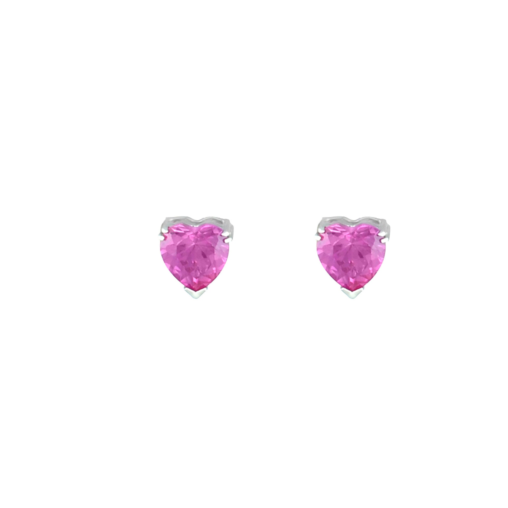 gold stud sapphire white bezel pink ltd ogi products earrings a