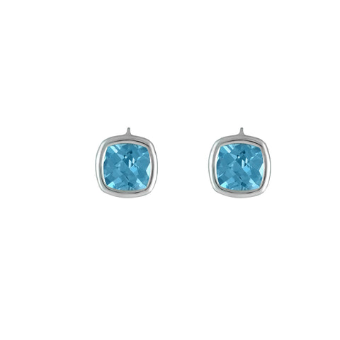 Sterling Silver Blue Topaz Fashion Earrings