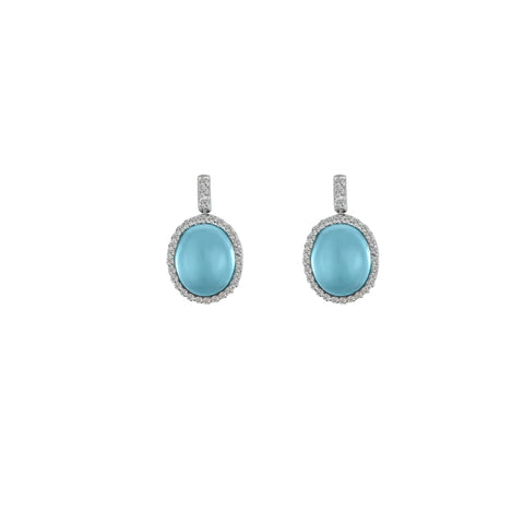 Blue Topaz and Diamond Accent Earrings