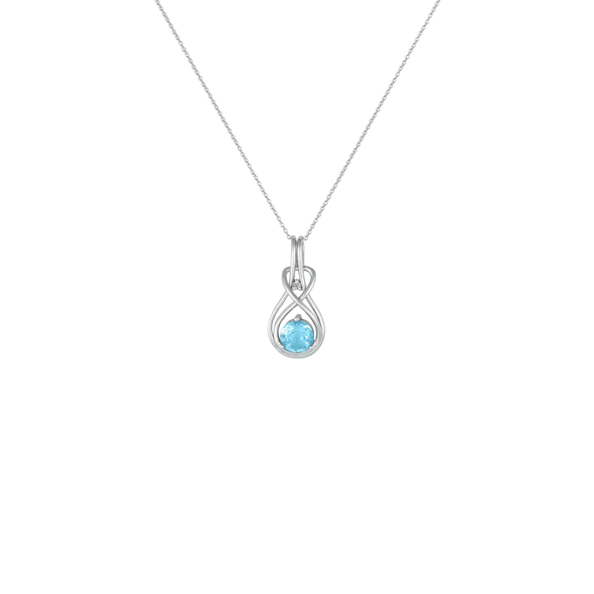 necklace zoom necklaces simply silver zirconia cubic jewellery twist sterling