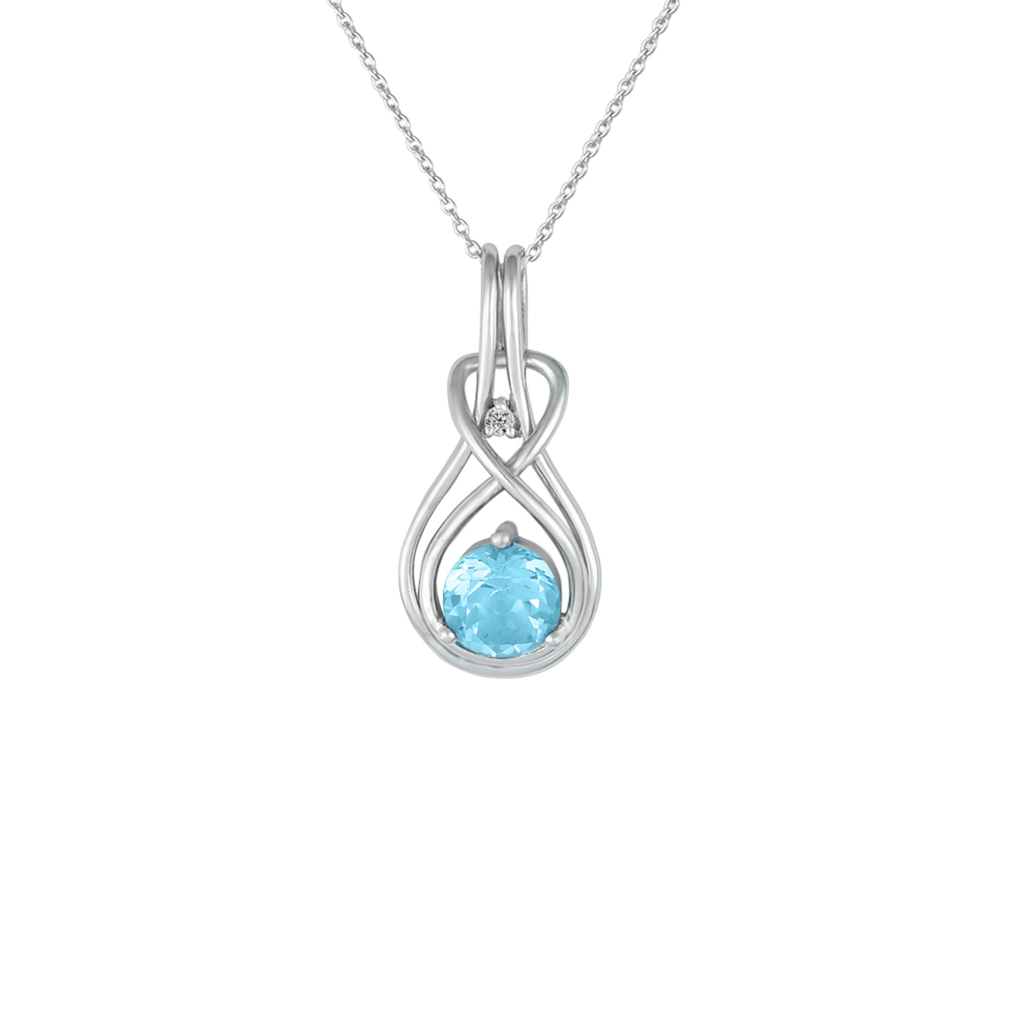 product pendant topaz round blue loose