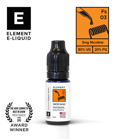 FRESH SQUEEZE E-LIQUID BY ELEMENT - Online Vape Store UK - Vape Botz | vapebot.co.uk
