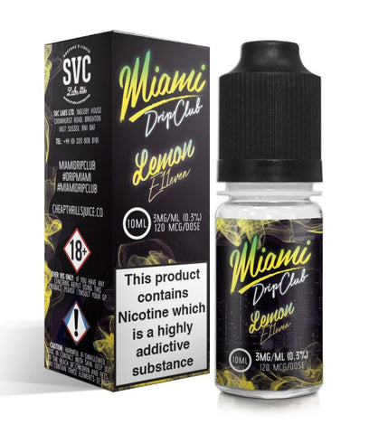 LEMON E11EVEN E-LIQUID BY MIAMI DRIP CLUB - Vapebotz Online Vape Store UK