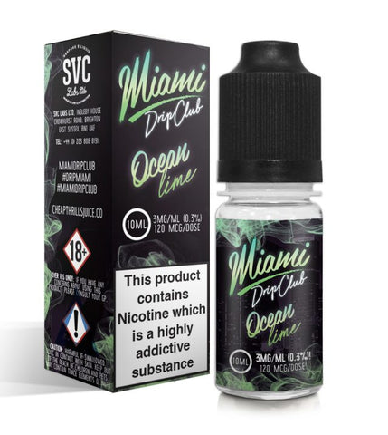 OCEAN LIME E-LIQUID BY MIAMI DRIP CLUB - Vapebotz Online Vape Store UK