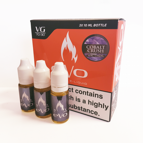 COBALT CRUSH E-LIQUID BY EVO - Online Vape Store UK - Vape Botz | vapebot.co.uk