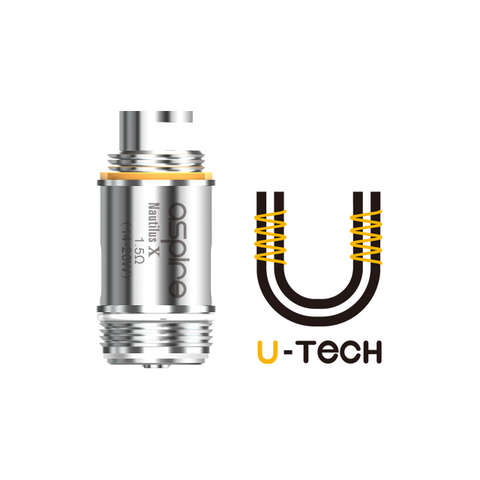 ASPIRE NAUTILUS X U-TECH REPLACEMENT COILS - Online Vape Store UK - Vape Botz | vapebot.co.uk