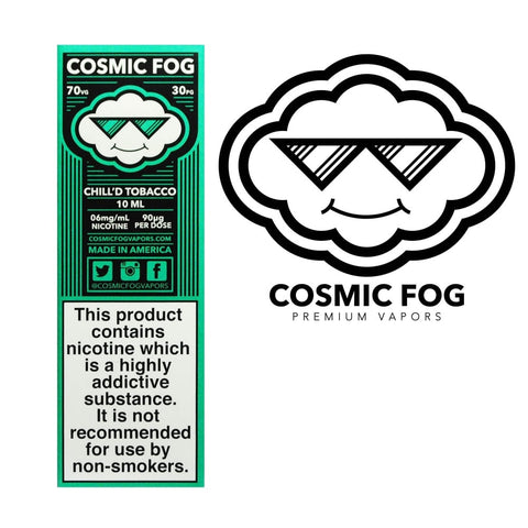 CHILL'D TOBACCO E-LIQUID BY COSMIC FOG - Vapebotz Online Vape Store UK