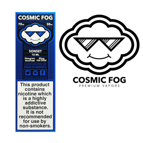 SONSET ELIQUID BY COSMIC FOG - Vapebotz Online Vape Store UK