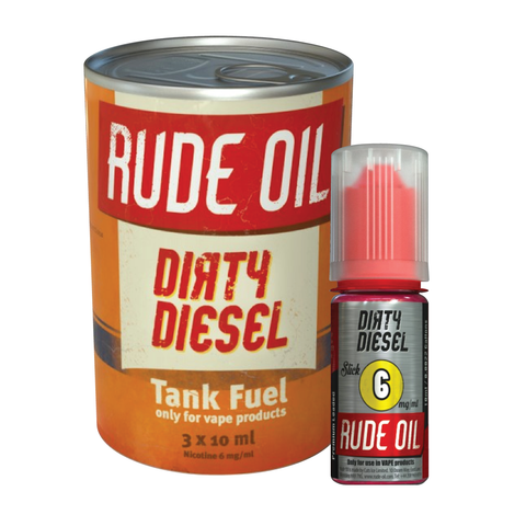 DIRTY DIESEL ELIQUID BY RUDE OIL - Vapebotz Online Vape Store UK