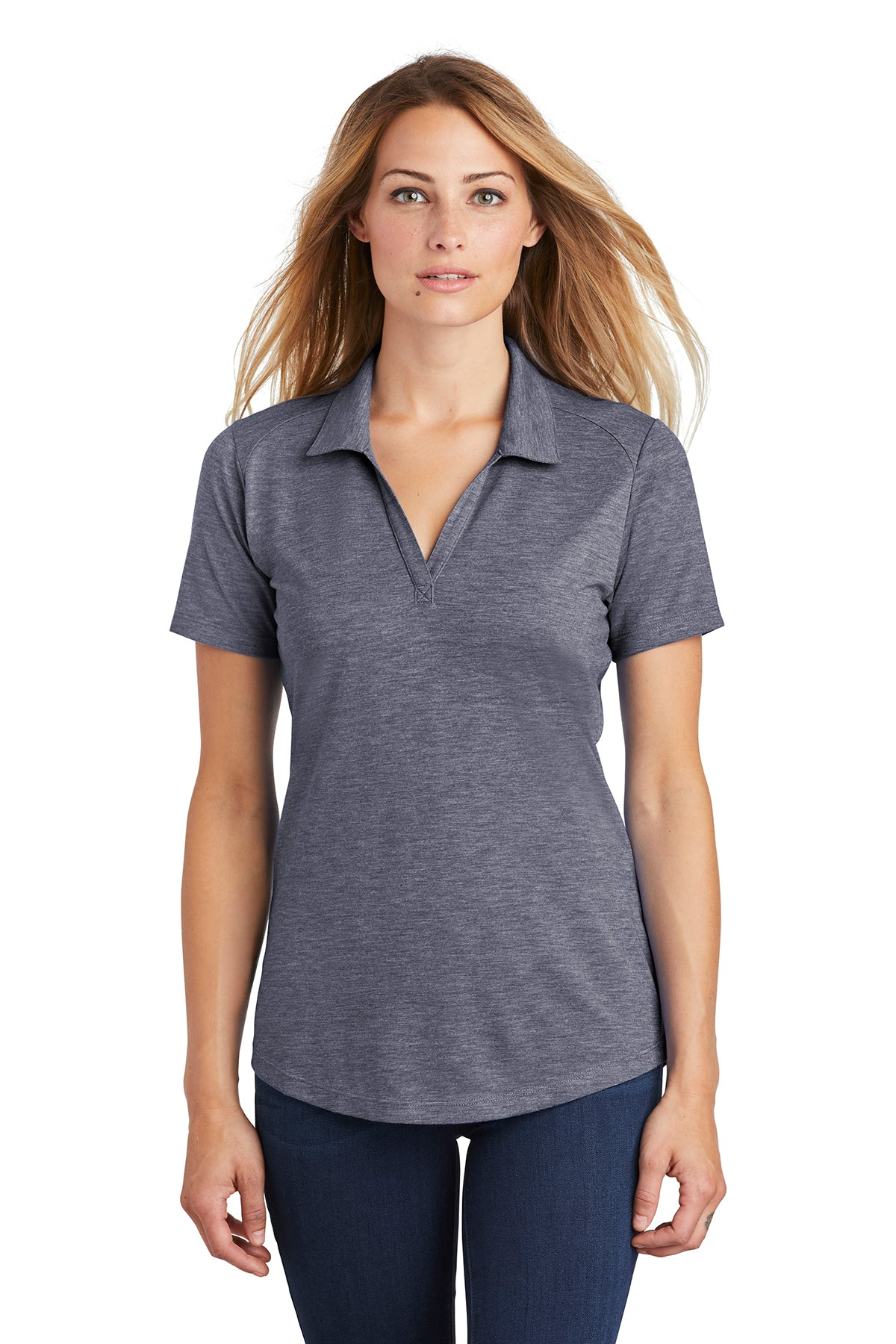 Ladies PosiCharge ® Tri-Blend Wicking Polo