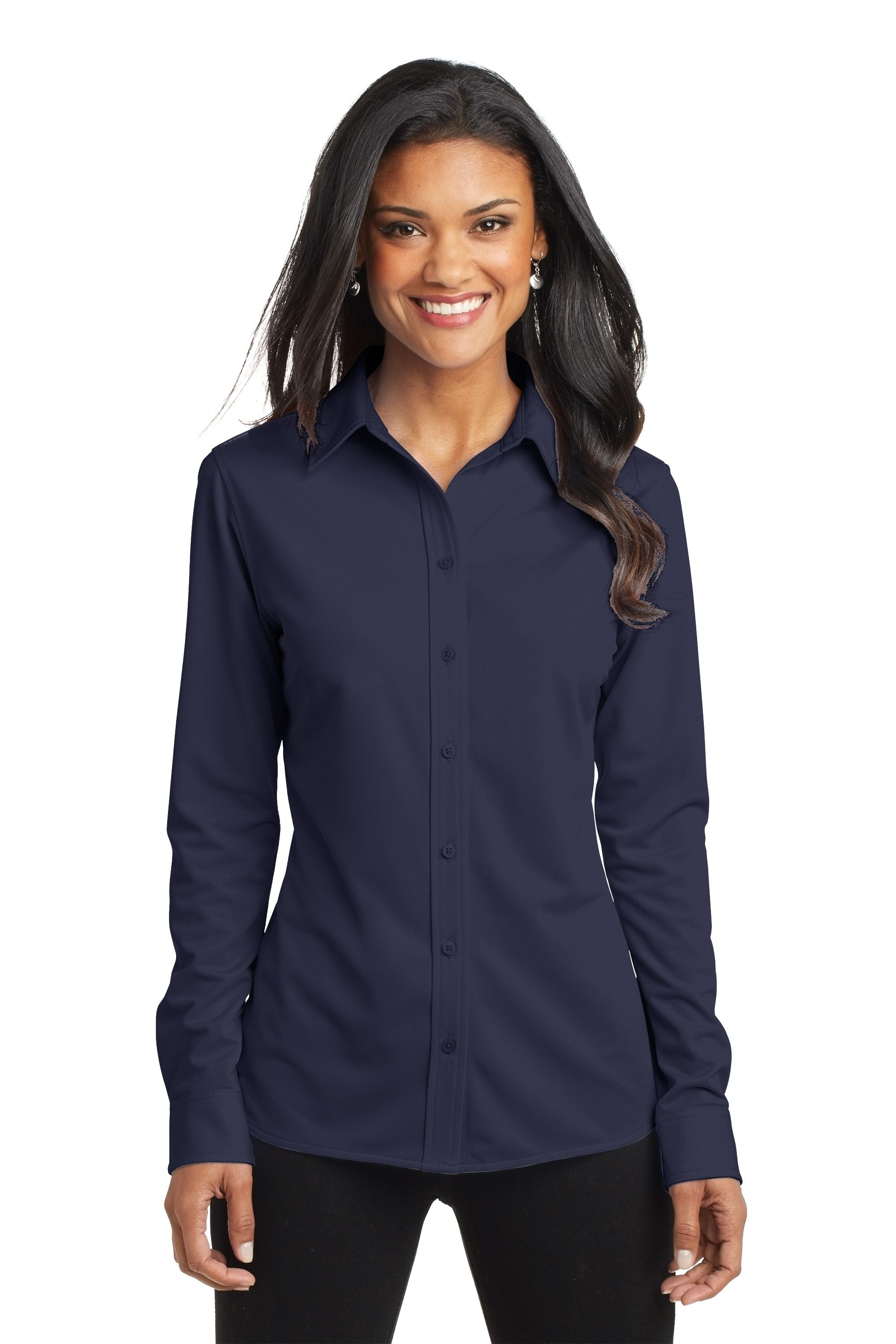 Port Authority® Ladies Dimension Knit Dress Shirt