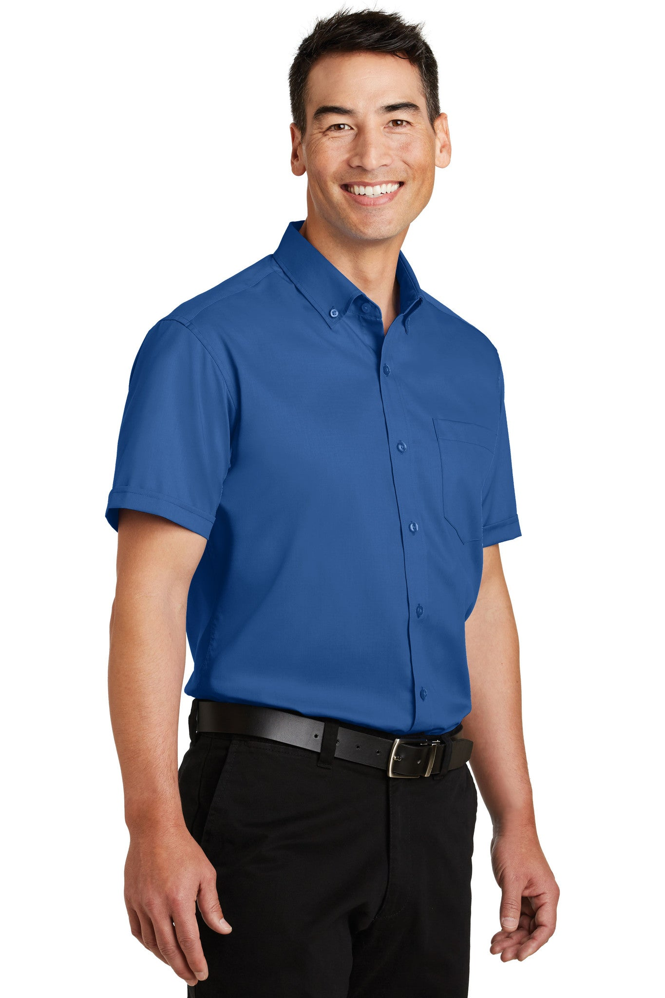 Port Authority® Short Sleeve SuperPro™ Twill Shirt - Core Value