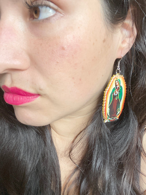 Virgen de Guadalupe Earrings - Lupe