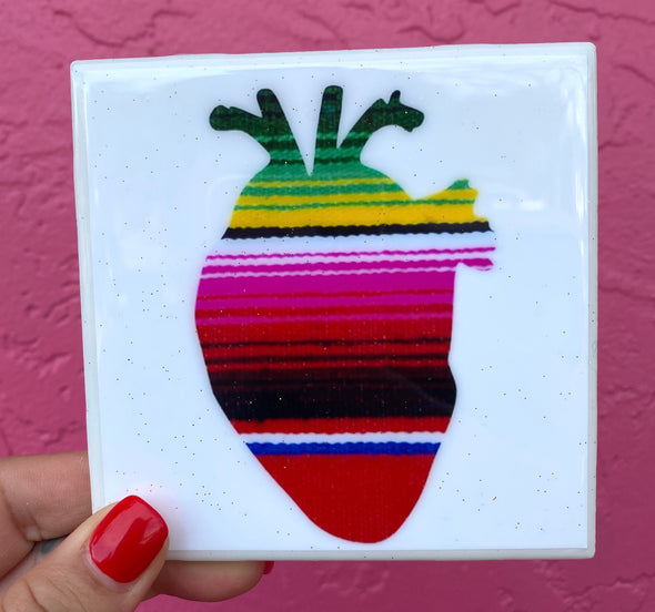 Sarape Corazon Tile/Coaster by VeryThat