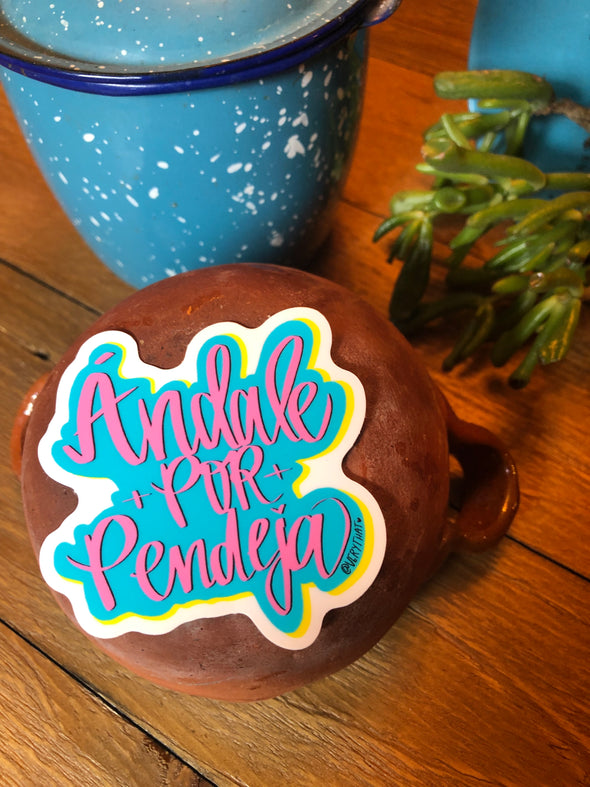 Andale Por Pendeja Cloud Sticker