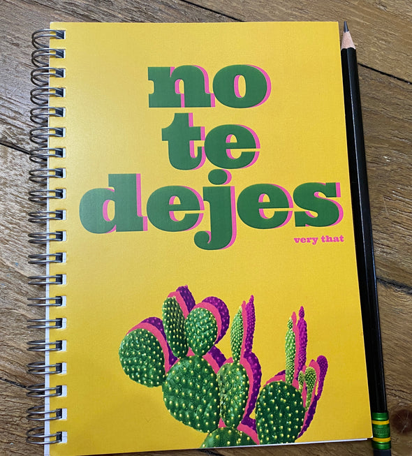 No Te Jejes Notebook (new)