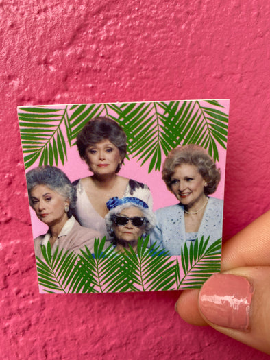 Golden Girls Palm 2x2 Sticker