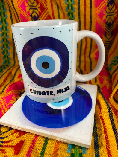 Mal Ojo Mug and Tile Bundle